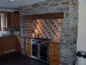 Interior Stone Work Kitchen Neath, Swansea. Builder
